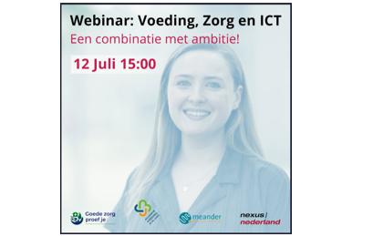 Webinar Voeding, Zorg en ICT: een combinatie met ambitie!